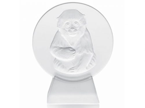 Lalique Monkey Paperweight