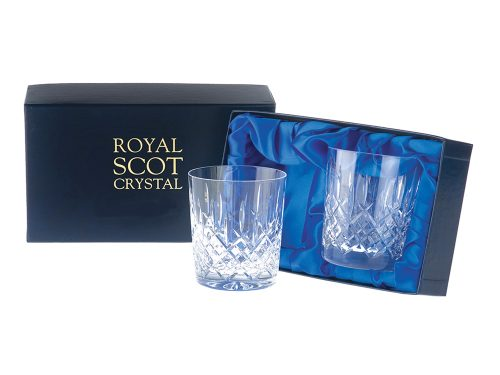 Pair of Royal Scot Crystal Large London Tumblers