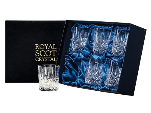 Set of 6 Royal Scot Crystal London Large Tumblers