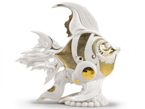 Lladro Porcelain Angelfish 01002011