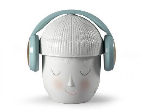 Lladro Porcelain Lane Headphones Box (Green) 01009384