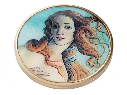 This beautifully crafted pocket mirror by John Beswick comes with a stunning extract of the painting