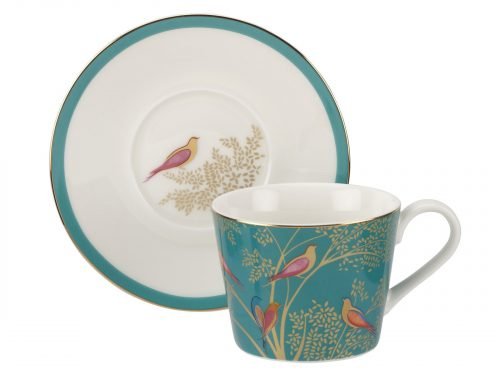 Sara Miller London Green Tea Cup & Saucer