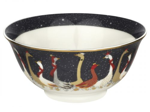 Sara Miller London Geese Christmas Collection Candy Bowl