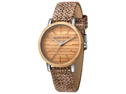 Esprit Brown Canvas Watch
