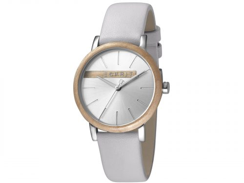 Esprit Light Grey Calf Leather Watch