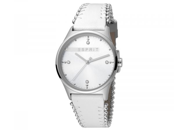 Esprit White Calf Leather Watch