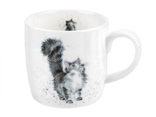 A beautiful little cat with a huge bushy tail held high. Puuurrfect for cat lovers. Size: 0.31L - 11fl.oz. By: Wrendale. Product Code: MMMU5629-XT.