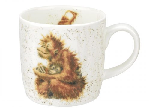 This is a Mug with a lovely illustration of the love the mother Orangutan has for her baby as she hugs them with a beaming smile across her face. Really heart warming. A lovely gift or a great addition to your own kitchen. Size: 0.31L - 11fl.oz. By: Wrendale. Product Code: MMMX5629-XT.