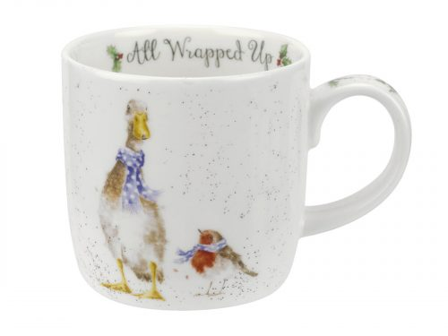 This Mug is decorated with a Goose and Robin, all dressed up in a vibrant blue polka dot scarf, out for an adventure in the snow. Beautiful Mug for a beautiful Christmas. Size: 0.31L - 11fl.oz. By: Wrendale. Product Code: MMOA5629-XT.