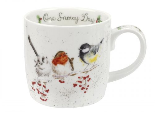 This is a delicate illustration of three species of bird, who have all landed together on a snowy day. This would make a magnificent gift for bird lovers this Christmas. Size: 0.31L - 11fl.oz. By: Wrendale. Product Code: MMOB5629-XT.