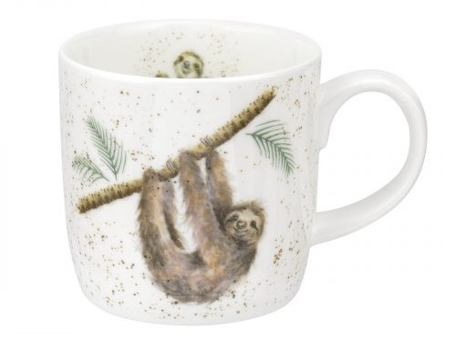 This is a beautiful design, with a Smiley Sloth hanging from a branch, a beautiful Mug and great addition to your kitchen. Size: 0.31L - 11fl.oz. By: Wrendale. Product Code: MMOE5629-XT.