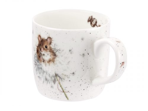 A beautiful illustration of a country mouse nestled up against a dandelion, the intricate details and shading on this mug is exceptional and makes it a wonderful addition to your kitchen. Size: 0.31L - 11fl.oz. By: Wrendale. Product Code: MMOH5629-XT.