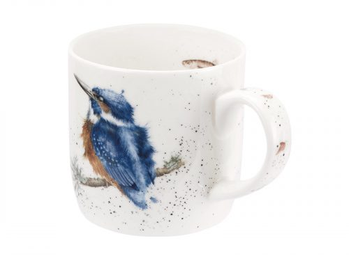 This is a beautiful Mug, with an illustration of a Kingfish, with deep blues and exquisite details, it makes for a stunning Mug, perfect for any bird lovers, and would be a great addition to your kitchen. Size: 0.31L - 11fl.oz.. By: Wrendale. Product Code: MMOI5629-XT.