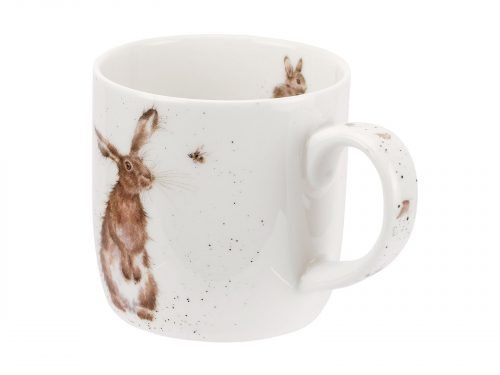 This is a lovely mug featuring an illustration from Wrendale, it is of a curious Hare sitting watching a Bee fly around. An Whimsical Illustration full of wonder. Size: 0.31L - 11fl.oz. By: Wrendale. Product Code: MMOU5629-XT.
