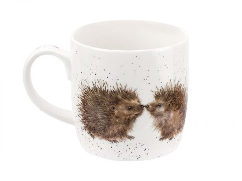 This is a beautiful mug with two hedgehogs conversing with each other. A lovely gift for anyone for loves cute little animals. Size: 0.31L - 11fl.oz. By: Wrendale. Product Code: MMOV5629-XT.