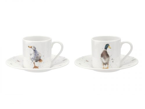This is a beautiful set of Cup and Saucers, each cup with its own design, you will all be fighting over your favourite, Perfect Set for your afternoon teas, or as a gift for someone. Size: 0.11L - 3.8fl.oz. By: Wrendale. Product Code: WN4031-XG.