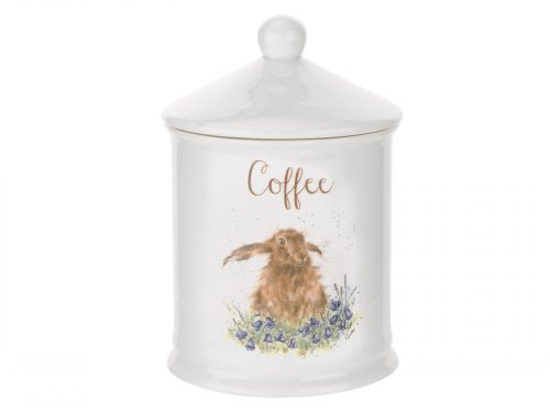 This Coffee Canister is decorated with a cute intricate Hare. With its beautiful simplistic design, it's a perfect gift for any animal lover. Size: 10cm Diameter 14.5cm Height - 4
