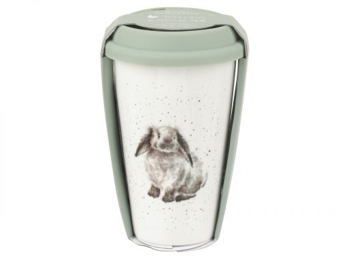 This Travel Mug features a stunning illustration of an adorable grey Rabbit, the perfect travel mug for any animal lover. Size: 0.31L - 11fl.oz. By: Wrendale. Product Code: WNLS78753-XW.