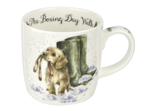 A stunning illustration of an adorable little puppy holding it's lead asking for a walk in the snow on Boxing day. Would make a lovely gift for any dog lover this Christmas Size: 0.31L - 11fl.oz. By: Wrendale. Product Code: WNOW5629-XT.
