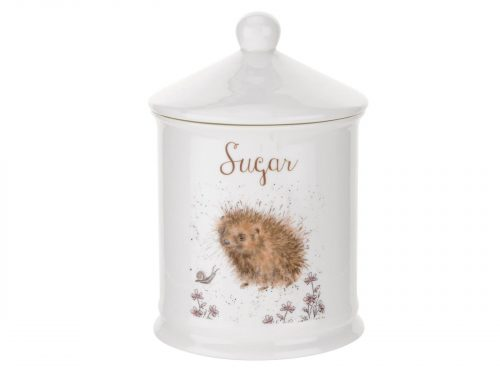 "This Sugar Cannister is decorated with an adorable little Hedgehog and his friend, The Snail. With its beautiful simplistic design, it's a perfect gift for any animal lover. Size: 10 cm Diameter 14.5 cm Height - 4"" Diameter 5.75"" Height. By: Wrendale. Product Code: WNS3996-XW."