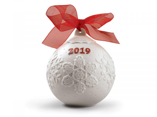 Lladro 2019 Christmas Ball - Re-Deco Red