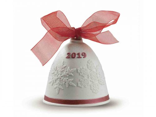 Lladro 2019 Christmas Bell - Re-Deco Red