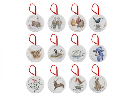 Royal Worcester Wrendale 12 Days of Christmas Decorations