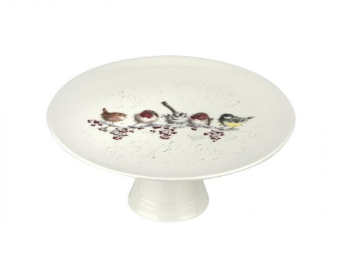 Royal Worcester Wrendale Cake Plate - One Snowy Day / Footed