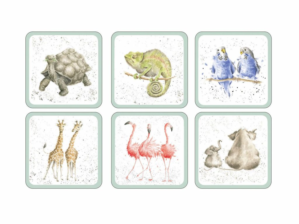 Royal Worcester Wrendale Coasters - Zoological (Set of 6)