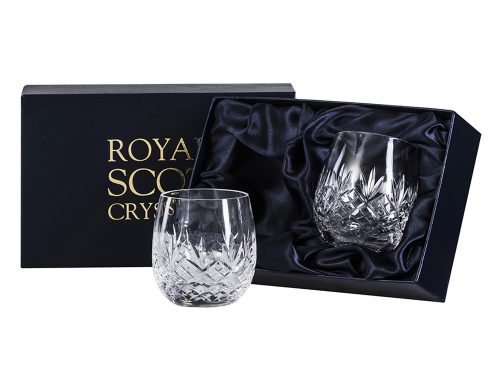 Pair of Royal Scot Crystal Edinburgh Gin Tumblers