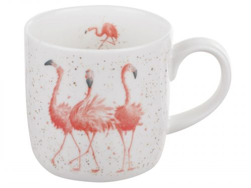 The three Flamingos Wrendale Mug by Royal Worcester