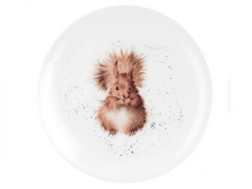 Royal Worcester Wrendale 8 inch Coupe Plate - Squirrel