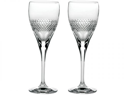 Royal Scot Diamonds Crystal Champagne Flute Pair The