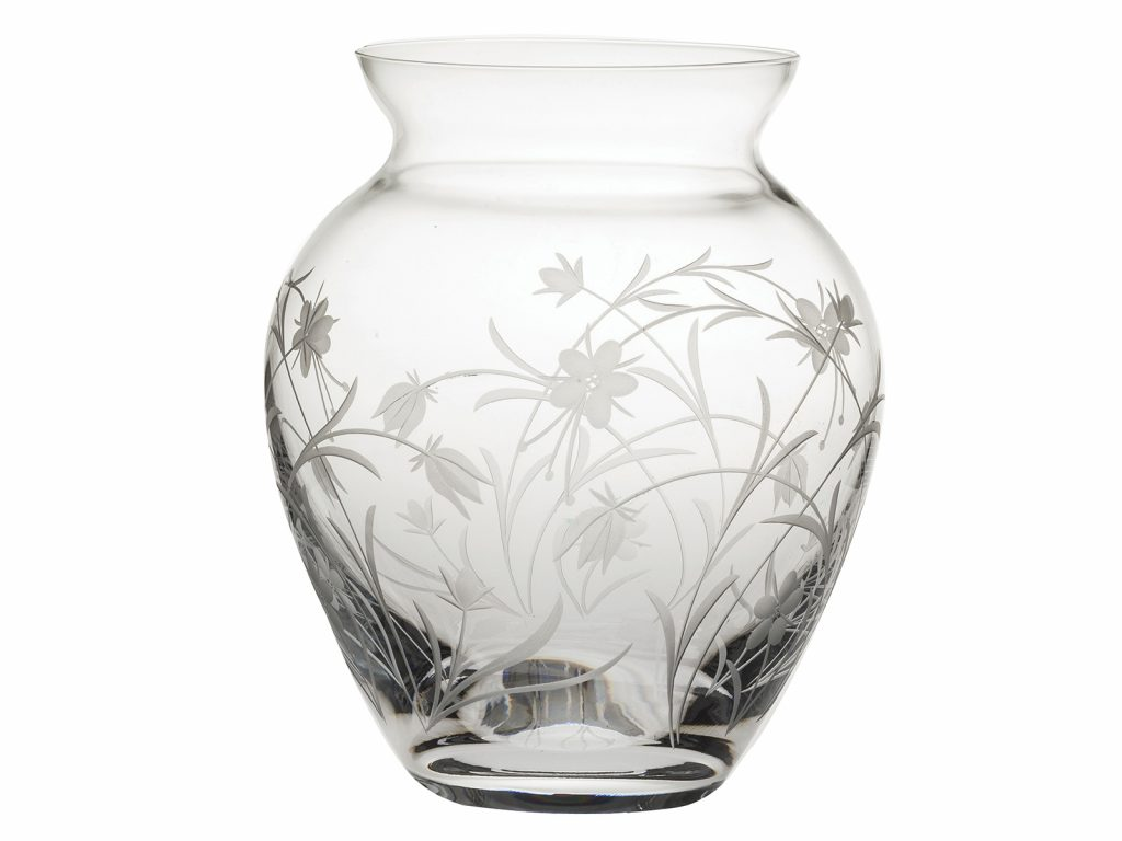 Royal Scot Meadow Flowers Crystal Large Posy Vase The